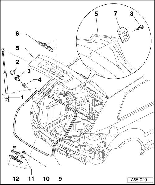 Demontaż Tylnej Klapy 3d I Sportback A3 Clubnet