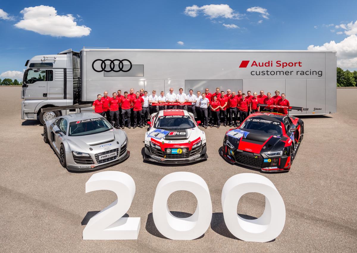 200th Audi R8 LMS